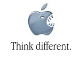 funny apple logo