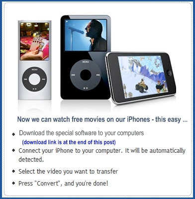 Free iPhone Movies