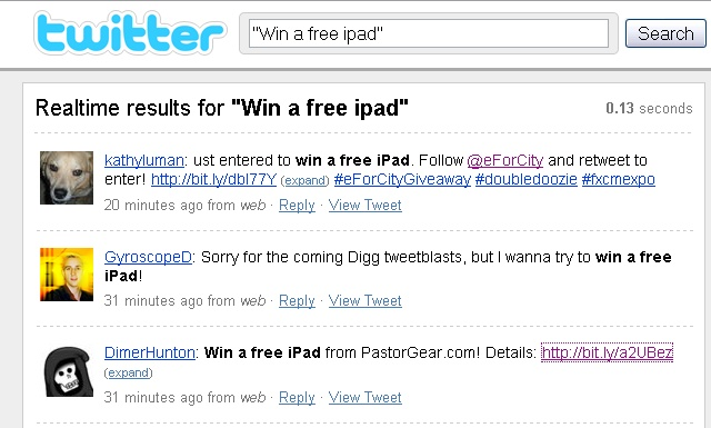 win an new iPad