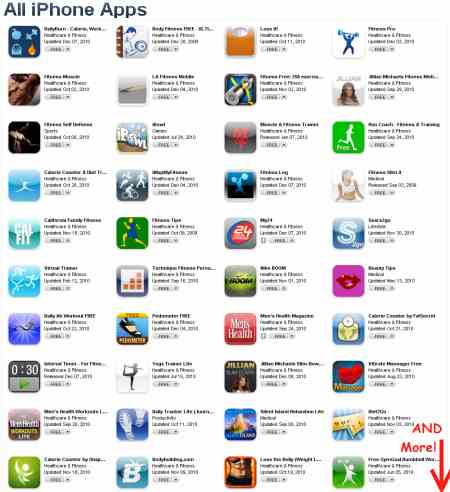 Free iPhone downloads for fitness