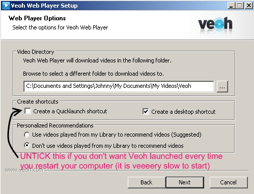 Veoh install guide